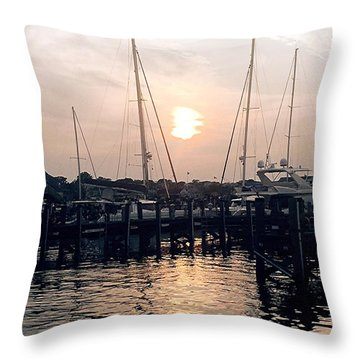 Sunset In Nantucket Throw Pillow