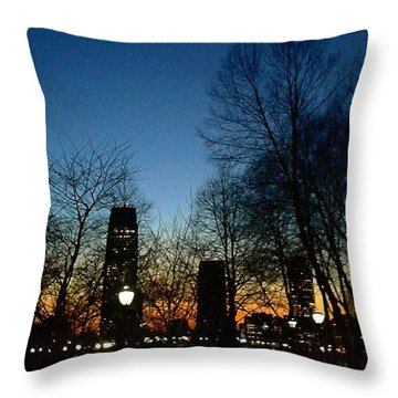 Early Spring Sunset Throw Pillow