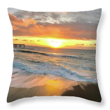 Sunset In Pacifica Throw Pillow