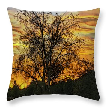 Sunset In Perris Throw Pillow