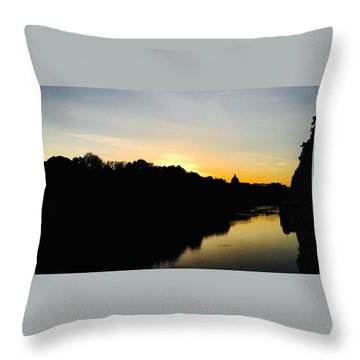 Sunset In Rome Throw Pillow