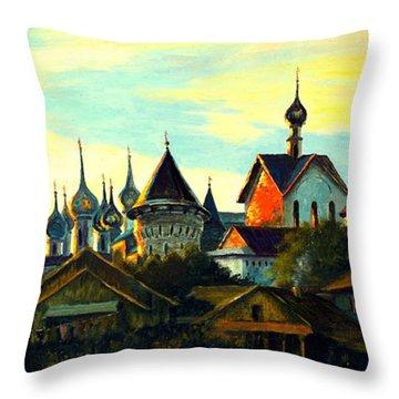 Sunset In Rostov Throw Pillow by Henryk Gorecki