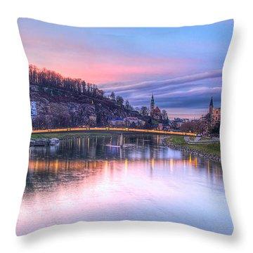 Sunset In Saltzburg Throw Pillow