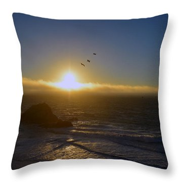 Sunset In San Francisco Throw Pillow