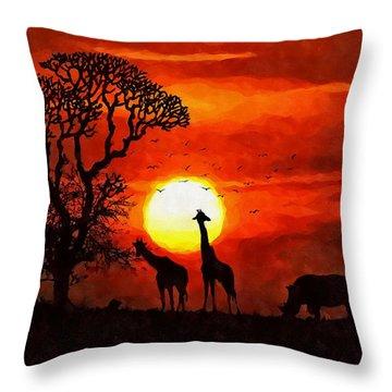 Sunset In Savannah Throw Pillow