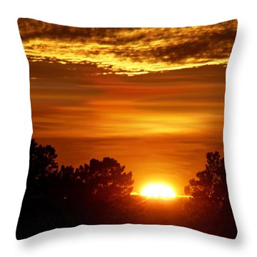 Sunset In Sonoma County Throw Pillow