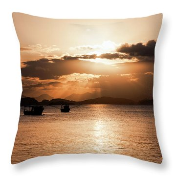 Sunset In Southern Brazil Throw Pillow