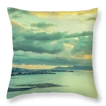 Throw Pillow featuring the photograph Sunset In Tahiti by Gary Slawsky