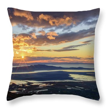 Throw Pillow featuring the photograph Sunset In The Desert by Bryan Carter