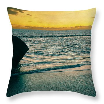 Sunset In Tenerife Throw Pillow by Loriental Photography