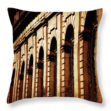 Sunset In The City Throw Pillow by Stephen Melia