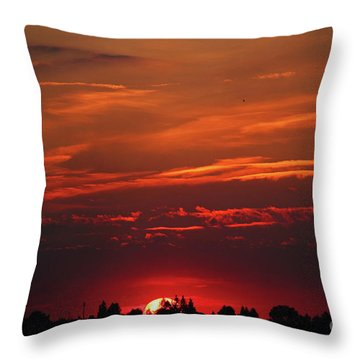 Sunset In The City Throw Pillow by Mariola Bitner