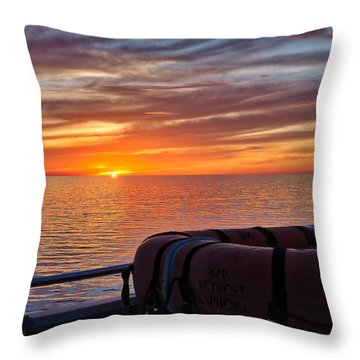 Sunset In The Gulf Throw Pillow