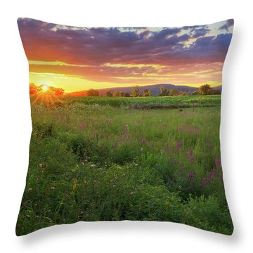Throw Pillow featuring the photograph Sunset In The Hills 2017 by Bill Wakeley