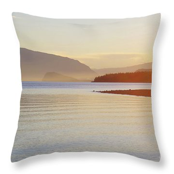 Sunset In The Mist Throw Pillow