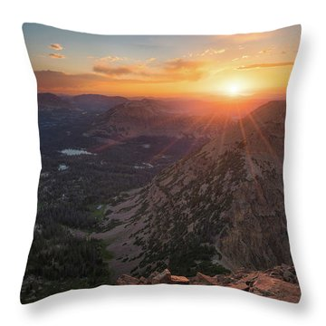 Sunset In The Uinta Mountains Throw Pillow