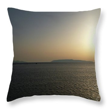 Sunset In Trapani Throw Pillow
