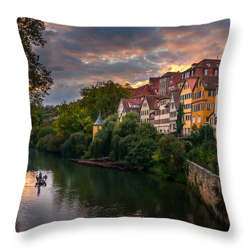 Sunset In Tubingen Throw Pillow