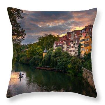 Sunset In Tubingen Throw Pillow