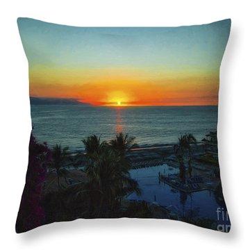 Sunset In Vallarta  ... Throw Pillow