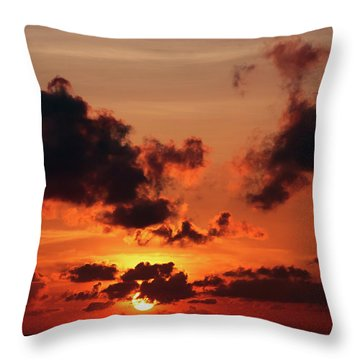Throw Pillow featuring the photograph Sunset Inspiration by Jenny Rainbow