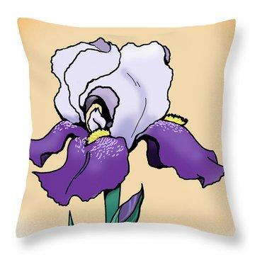 Sunset Iris Throw Pillow