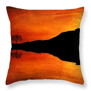 Sunset Island Throw Pillow