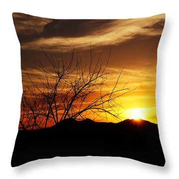Throw Pillow featuring the photograph Sunset by Joseph Frank Baraba
