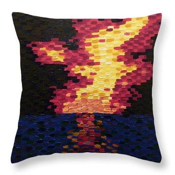 Sunset Throw Pillow by Joshua Redman