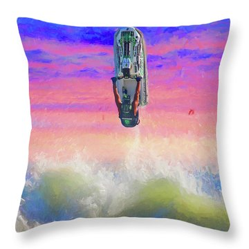 Sunset Jumper Throw Pillow by Alice Gipson