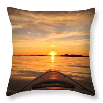 Sunset Kayak 2 Throw Pillow