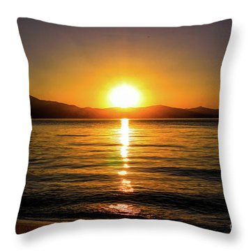 Sunset Lake 1 Throw Pillow