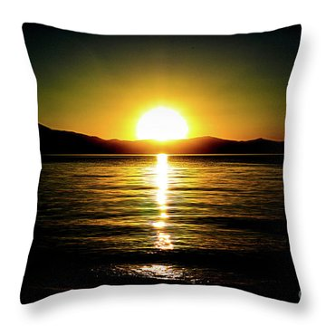 Sunset Lake 2 Throw Pillow
