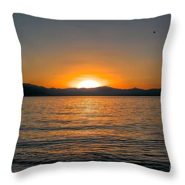 Sunset Lake 3 Throw Pillow