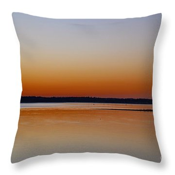 Throw Pillow featuring the photograph Sunset Lake Texhoma by Diana Mary Sharpton