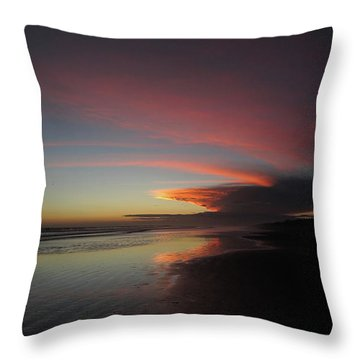 Sunset Las Lajas Throw Pillow
