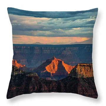 Sunset Lights Angels Gate Throw Pillow
