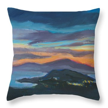 Sunset Looking West Throw Pillow