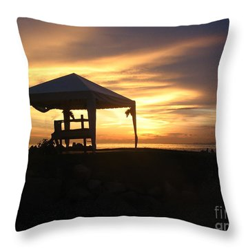 Sunset Massage Throw Pillow