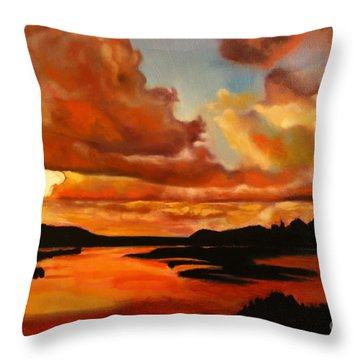 Sunset Throw Pillow by Michael Kulick