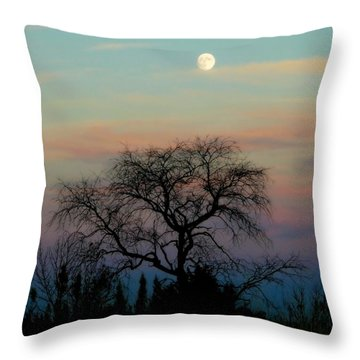Sunset Moon Throw Pillow