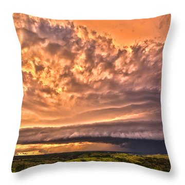 Sunset Mothership Throw Pillow