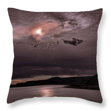Sunset Near Crested Butte Throw Pillow