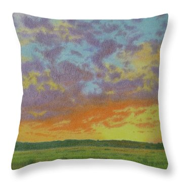 Sunset Near Miles City Throw Pillow