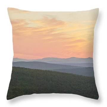 Sunset Near Rangeley Throw Pillow