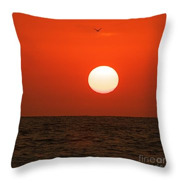 Sunset Throw Pillow by Nicola Fiscarelli
