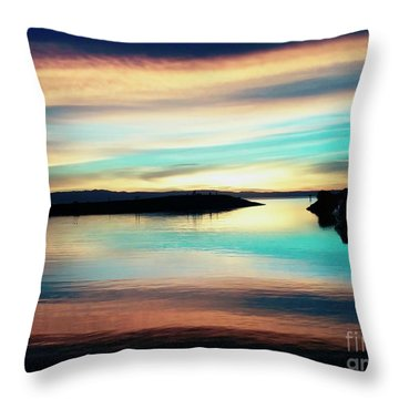 Sunset Noctune Throw Pillow