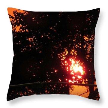 Sunset. Throw Pillow