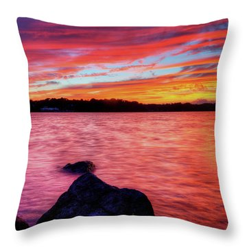 Sunset Of Fire Throw Pillow