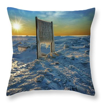 Sunset Of Frozen Dreams Throw Pillow